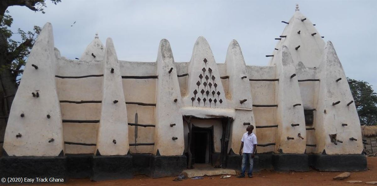 Mud-and-stick mosque at Larabanga