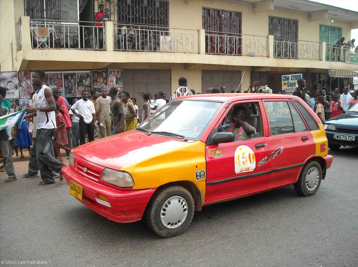 Taxis are abundant in Ghana