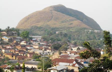 Mt Gemi at mountain village of Amedzofe in Ghana
