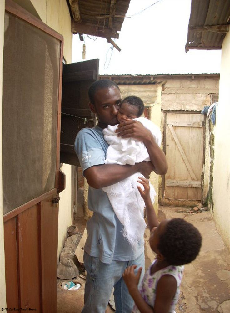 Baby at home in Ghana