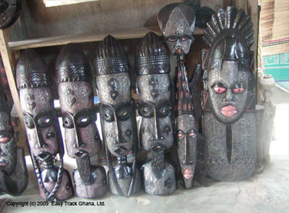 Carved masks in Ghana