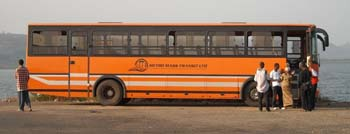Metro Mass bus in Ghana