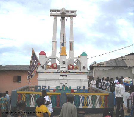 Posuban shrine in Otuam, Ghana