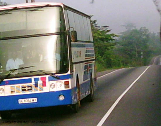 State Transit Company buses connect major cities in Ghana