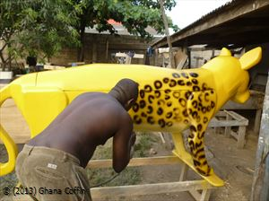 Crafting an exotic coffin in Ghana