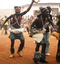 Festival dancing in the north