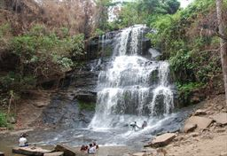 Kintampo Falls during the dry season