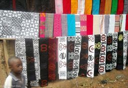 Adinkra cloth stamping in Ghana