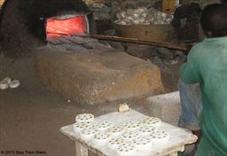 Bead making oven in Ghana