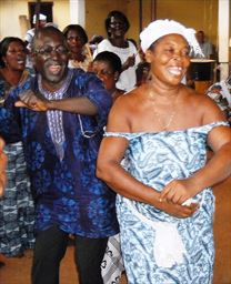 Couple dancing in Ghana