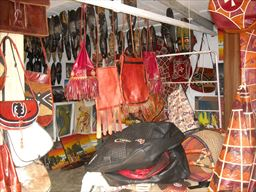 Leather goods are abundant in Ghana
