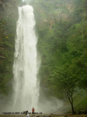 Ghana's tallest waterfalls, Wli falls, also known as Agumatsa falls, near Hohoe in Ghana